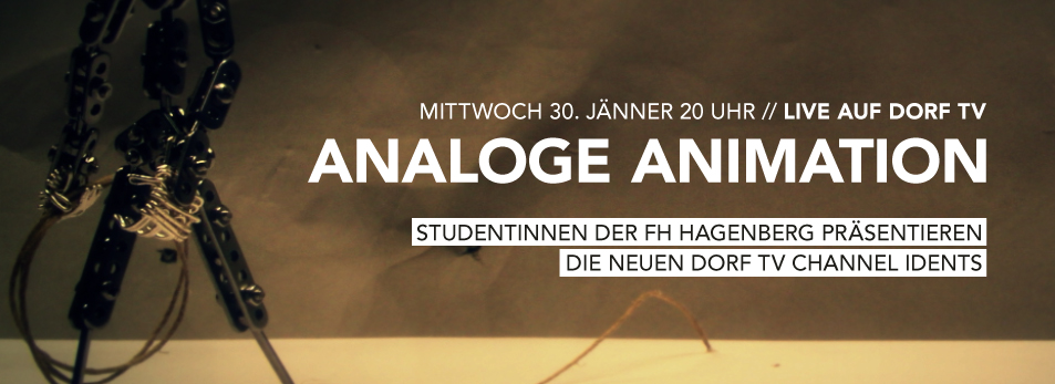 Analoge Animation LIVE auf dorf tv