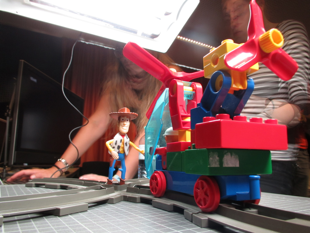 Woody getting killed by a train