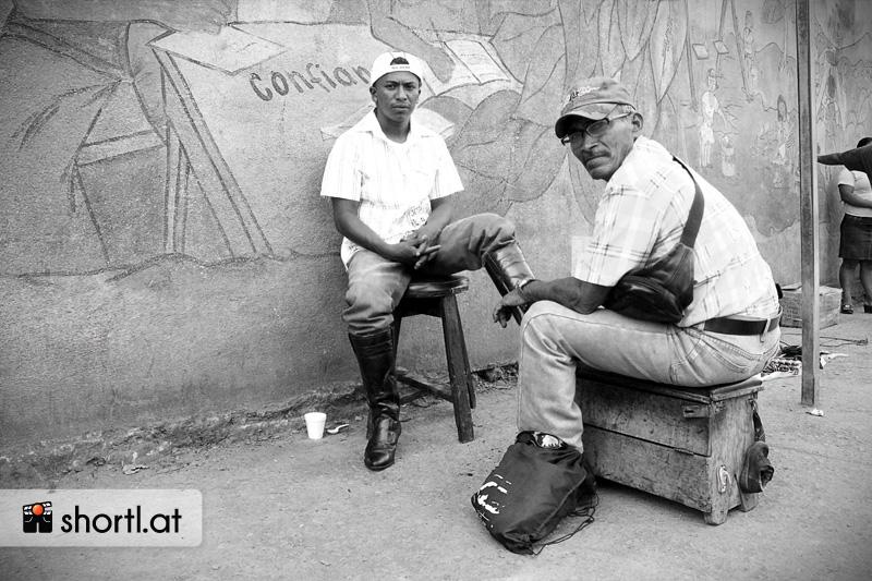 Schuhputz in Nicaragua