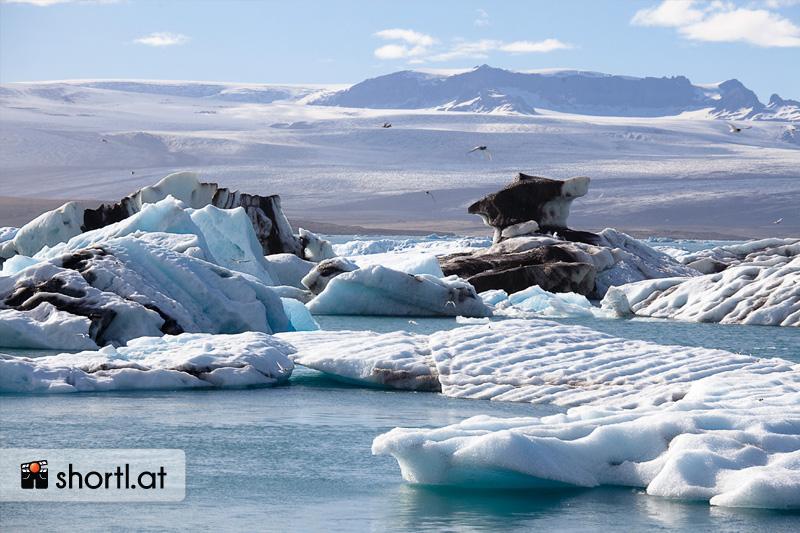 Die Eisberge von Jökulsarlon