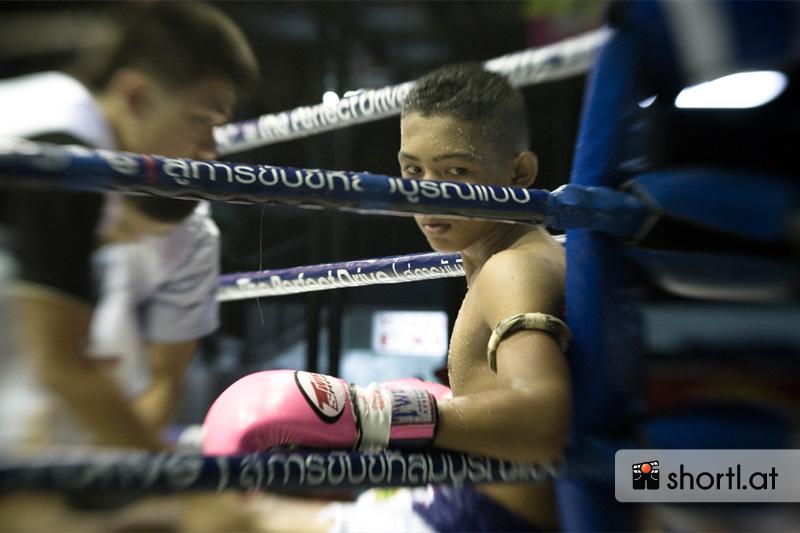 Thai-Boxkampf in Bangkok